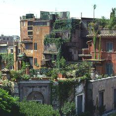 backtowoodstock: enochliew: Roof Gardens in Rome love