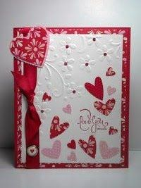 Stampin' Up Well Scripted Valentine's Day Card