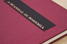 A Scandal in Bohemia – letterpress book