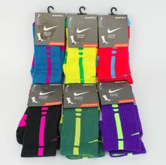 NIKE Elite Dri-FIT Basketball Socks Size 6-8 Medium SX3692 Various Colors SALE #Nike #Athletic