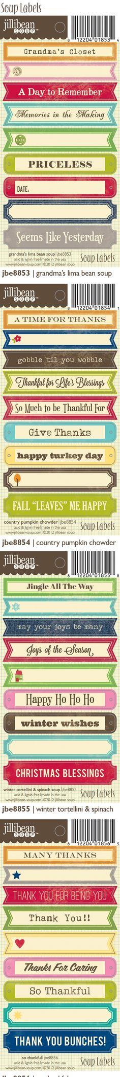 jillibean soup labels cha summer 2012
