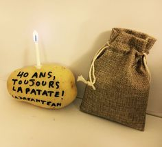 Envoie ta patate d'anniversaire ! Happy Birthday Parties, 40th Birthday, Birthday Wishes, Pajama Party, Diy Invitations, Diy And Crafts, Surfing, Reusable Tote Bags, Gifts