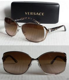 VERSACE women sunglasses Mod.2125-B made in Italy 100% UV designer brown #Versace #Designer