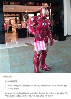 Did Pepper borrow the suit? #ironman / http://saltlakecomiccon.com/slcc-2015-tickets/?cc=Pinterest