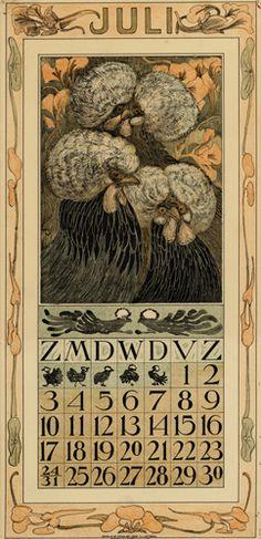Theodoor van Hoytema, calendar 1910 July