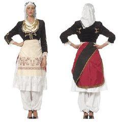 Cretan Female Traditional Dance Costume Had this lmao Crete Holiday, Greek Culture, Greek Clothing, Folk Costume, Dance Costumes, Traditional Dresses, Women Wear, Female, How To Wear