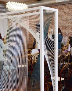 Fiber Art Sculpture by Tiffany Lusteg seen at Franciscan Gardens, San Juan Capistrano Wedding String Art, Backdrop Design, Fashion Photography Inspiration, New Artists, Event Design, Office Decor, Backdrops, Design Inspiration, Modern