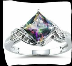 mystic topaz rings | Mystic fire topaz ring