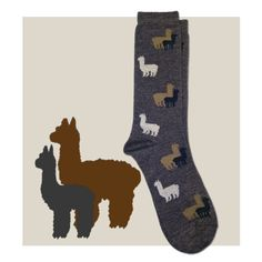 Show off your love of alpacas with these Alpaca Herd Fun Socks featuring wonderful cute alpacas!