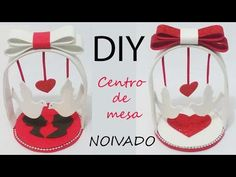 DIY centro de mesa noivado - YouTube