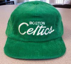 ee3ffa1b2763a New Vintage NBA Boston Celtics Basketball Corduroy Hat 1980′s Adjustable  Back  NBA