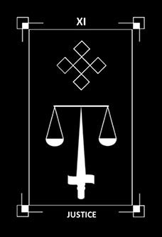 November 21 Tarot Card: Justice (Dark Exact deck) Emotions create biases. You've got to cut through your feelings now if you want to see the truth
