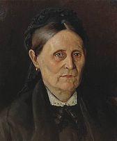 Portrait of M. Nesterova, mother of the artist - Mikhail Nesterov
