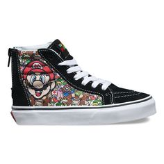 Nintendo hi-top Vans, now available in stores and online. Plus, adult sizes too!