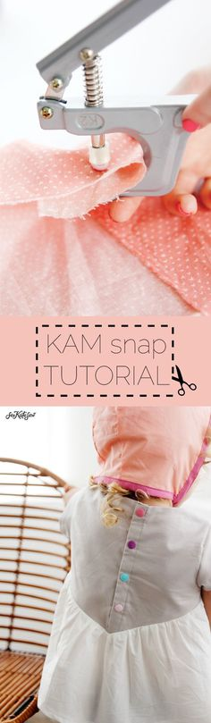 Manhattan Blouse with KAM Snap Tutorial