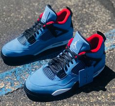 e5c32c4a8c4 Travis Scott Air Jordan 4 Houston Oilers 308497-406 - Sneaker Bar Detroit  Nike Shoes