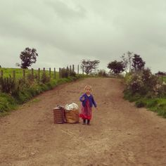 Off on a picnic down the lane - Wizard of Oz weather with a strange warm stormy wind!