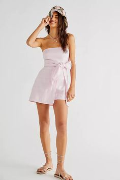 Romper Free People Sky Fit, Skort, Spring Summer Fashion, Boho Shorts, Strapless Dress, Free People, Design Inspiration, Rompers, My Style