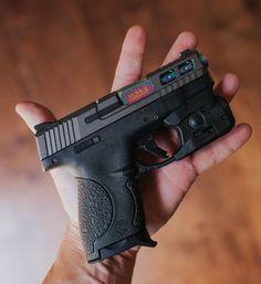 M&P Shield 9 with a Spectrum coating. Weapons Guns, Guns And Ammo, M&p Shield 9mm, Pistol Annies, Revolver Pistol, Firearms, Shotguns, Shooting Guns, Custom Guns