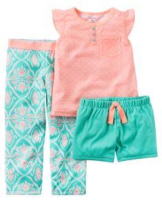 Baby Girl 3-Piece Jersey PJs | Carters.com