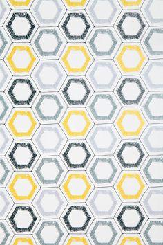 Kreme Hexagon Sketch Wallpaper  #UrbanOutfitters