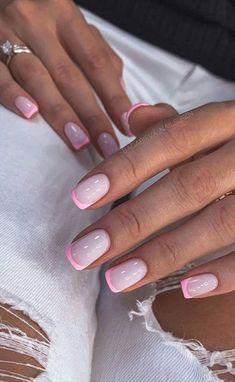 Short Square Acrylic Nails, Short Square Nails, Short Gel Nails, Cute Acrylic Nails, Cute Nails, Manicure For Short Nails, Nail Design For Short Nails, Square Gel Nails, Sqaure Nails