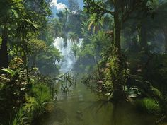 Jungle Waterfall | Jungle Waterfall | The Jungle | Pinterest