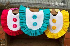 RUFFLE Bib Onesie Dress Accessory for Baby Girl