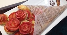 """Pinners in Japan are loving these """"Rose Pies"""" made of apples. Beautiful and delicious. Sweets Recipes, Baking Recipes, Desserts, Broccoli Recipes, Rib Recipes, Tofu Recipes, Roast Recipes, Noodle Recipes, Steak Recipes"""