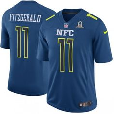 Cardinals 11 Larry Fitzgerald NFC Navy 2017 Pro Bowl Game Jersey $$$25
