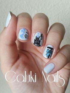 Caluki Nails : Nail art Concurso Nataliciosa y Tarabiques