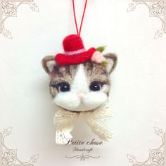 Wool Felt Cat Hanging