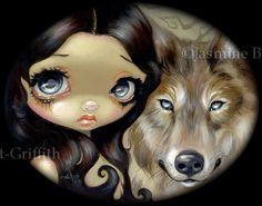 Silver Eyed Wolf by jasminetoad.deviantart.com on @deviantART
