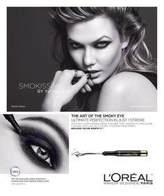 L'Oréal Paris Cosmetic Advertising with Karlie Kloss