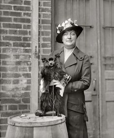 """1915. """"Dog show. Mrs. Henry C. Corbin."""" Another entry from H's series showing matrons, misses and their mutts at the Washington Kennel Club dog show of April 1915."""