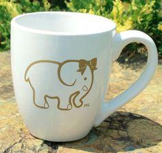 Ellie The Elephant Coffee Mug – 14 oz – Future Female Leaders Elephant Mugs, Elephant Love, Elephant Gifts, Elephant Stuff, Cute Coffee Mugs, Coffee Love, Coffee Cups, All About Elephants, Coffee Humor