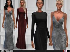 2 Gowns Found in TSR Category 'Sims 4 Female Clothing Sets'