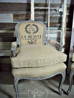 French Chair Makeover With Down Cushions