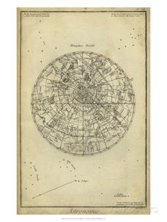 Antique Astronomy Chart I Giclee Print by Daniel Diderot at AllPosters.com http://www.allposters.com/-sp/Antique-Astronomy-Chart-I-Posters_i8854478_.htm