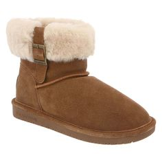 e5b1b41aeb00 Bearpaw 1257W-220-M060 Women s Abby Cow Suede Hickory Leather Winter Boot