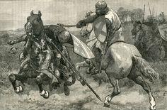 Robert de Bruce kills Sir Henry de Bohun in single combat on the first day of the Battle of Bannockburn on 23rd June 1314