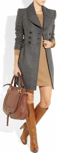 Burberry London - Love the mix of greys with other neutrals.