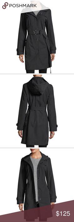 NWOT Michael Kors Belted Hooded Raincoat Brand new and never worn MICHAEL Michael Kors Belted Hooded Raincoat in Black. MICHAEL Michael Kors Jackets & Coats