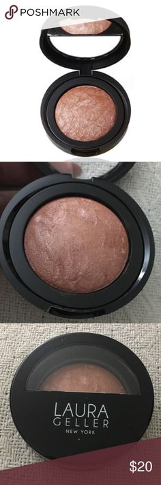 Laura Geller Baked Blush N Brighten Brand new, never used & full size. Price is firm. No trades. Bundle for a discount. In: Pink Grapefruit (rich beige, mauve and shimmering pink). Laura Geller Makeup Blush