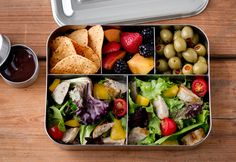 LunchBots Bento Cinco LARGE Stainless Steel Food Container, 5 Section, Adults and Kids