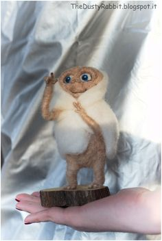 E. T. Needle felted by Thedustyrabbit