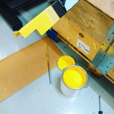 And we are back to dipping for a prototype. #Veloboxx #bikestorage #bikemobility #fiets #velo #bicycle #bicicletta #bicicleta #fahrrad #prototype #plastidip #yellow