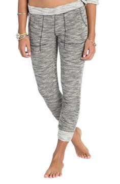 Lounging around the house in these ultra comfy jogger pants in oatmeal heather.