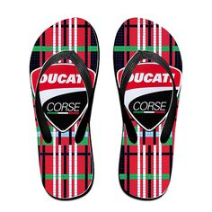 8336f57fc9c MEIDINGT Women s Or Men s Unisex Ducati Logo Flip Flops -- Check out this  great product
