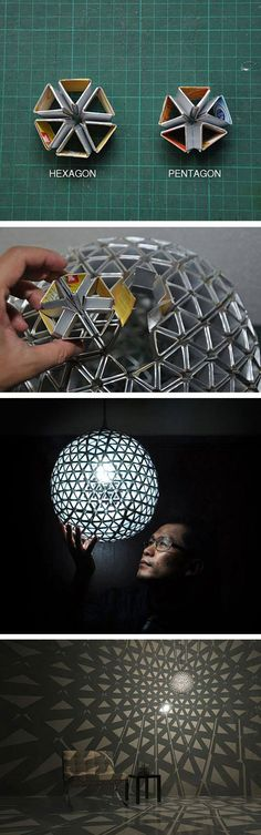 Awesome cardboard lamp.